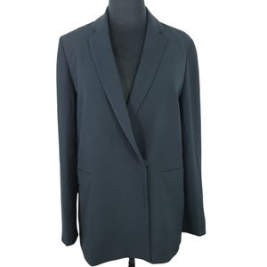 Madewell Suit Jacket Long Black Sleek 2 Hidden Snaps  Careerwear Business Size 6